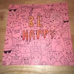 """Happy Thoughts"" Doodle Art by Evi Iem"